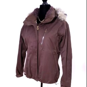 COLUMBIA Winter Jacket Brown Ski Jacket